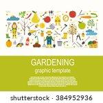 gardening work  farming... | Shutterstock .eps vector #384952936