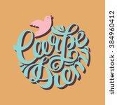 carpe diem latin phrase means... | Shutterstock .eps vector #384960412