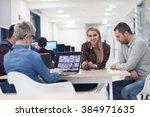 startup business team on... | Shutterstock . vector #384971635