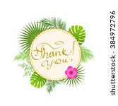 lettering thank you for card.... | Shutterstock .eps vector #384972796