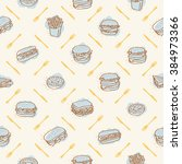 fast food restaurant pattern | Shutterstock .eps vector #384973366