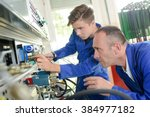 mechanical engineering... | Shutterstock . vector #384977182
