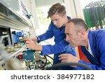 mechanical engineering... | Shutterstock . vector #384977182