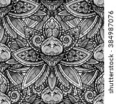 vector black and white indian... | Shutterstock .eps vector #384987076