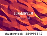 abstract vector template design ... | Shutterstock .eps vector #384995542