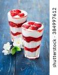 Dessert With Strawberry Sauce...