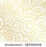 golden complex tribal geometric ... | Shutterstock .eps vector #385000468