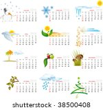 vector calendar for 2010 with... | Shutterstock .eps vector #38500408