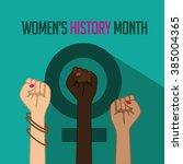 women's history month design.... | Shutterstock .eps vector #385004365