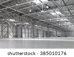 huge empty warehouse | Shutterstock . vector #385010176