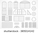 vector set of black contours... | Shutterstock .eps vector #385014142