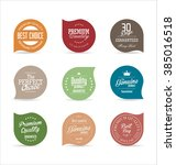 modern labels collection | Shutterstock .eps vector #385016518