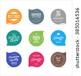 modern labels collection | Shutterstock .eps vector #385016536