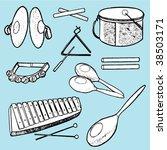 musical instruments | Shutterstock .eps vector #38503171