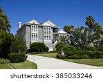 beautiful new florida house... | Shutterstock . vector #385033246