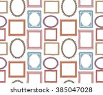 colorful vintage photo frame... | Shutterstock . vector #385047028