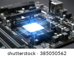 installed in the computer... | Shutterstock . vector #385050562