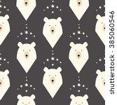 bear seamless pattern with...   Shutterstock .eps vector #385060546