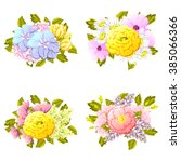 flower set | Shutterstock . vector #385066366