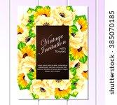 vintage delicate invitation...   Shutterstock .eps vector #385070185