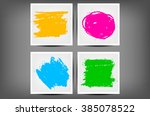 collection of grungy charcoal... | Shutterstock .eps vector #385078522