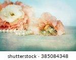 wedding rings | Shutterstock . vector #385084348