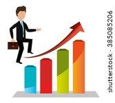 profitable growth design  | Shutterstock .eps vector #385085206