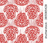 faux tribal cloth flower...   Shutterstock .eps vector #385085428