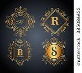 monogram background design  | Shutterstock .eps vector #385086622