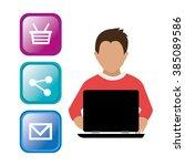 online media design  | Shutterstock .eps vector #385089586