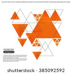 abstract triangles background... | Shutterstock .eps vector #385092592