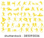 icon of the athlete | Shutterstock .eps vector #385093036