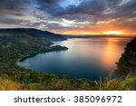 Sunset Lake Toba  North Sumatr...
