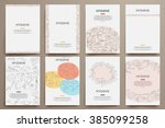 corporate identity vector... | Shutterstock .eps vector #385099258
