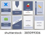 corporate identity vector... | Shutterstock .eps vector #385099306