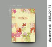 floral abstract vector brochure ... | Shutterstock .eps vector #385100476