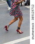 milan  italy   february 26 ... | Shutterstock . vector #385125712
