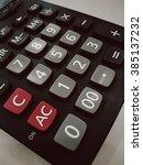 close up calculator | Shutterstock . vector #385137232