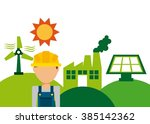 eco friendly design  | Shutterstock .eps vector #385142362