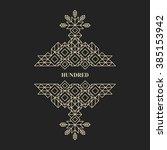 decorative design element in... | Shutterstock .eps vector #385153942