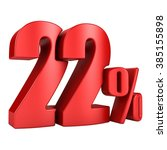 22 percent 3d in red letters on ... | Shutterstock . vector #385155898