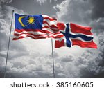 malaysia   norway flags are... | Shutterstock . vector #385160605