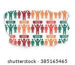 political concept  election... | Shutterstock . vector #385165465