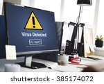 Small photo of Virus Detected Alert Hacking Piracy Risk Shield Concept