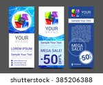 a set of vertical banners with... | Shutterstock .eps vector #385206388
