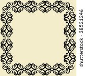 abstract baroque decoration ... | Shutterstock .eps vector #38521246