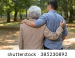 embraced grandson and... | Shutterstock . vector #385230892