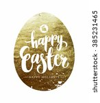Easter Postcard With Gold Foil...