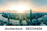 panoramic view of bangkok city... | Shutterstock . vector #385234606