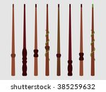 magic wands. magic and magical... | Shutterstock .eps vector #385259632